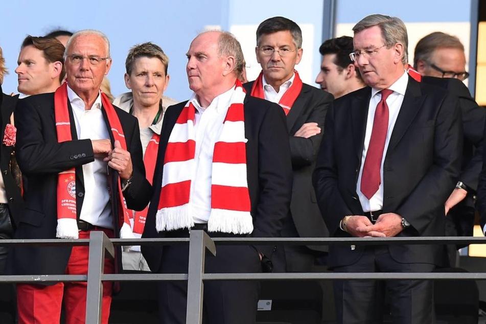 Die drei Mächtigen: Franz Beckenbauer, Uli Hoeneß und Karl Hopfner (v.l.).