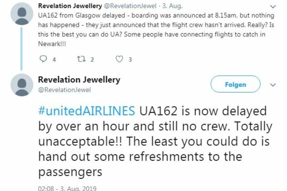 Viele Passagiere machten ihrem Ärger über soziale Netzwerke Luft.