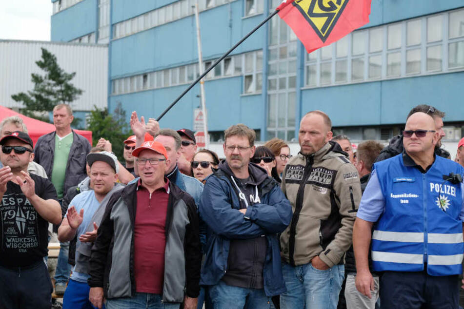 Am Donnerstag dauert der Streik bei der Neuen Halberg Guss bereits vier Wochen.