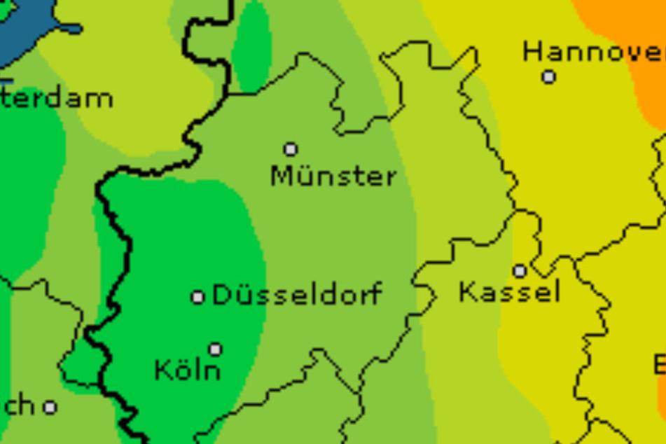 Das Gewitterrisiko für OWL ist gering im Vergleich zum Rest von Deutschland.