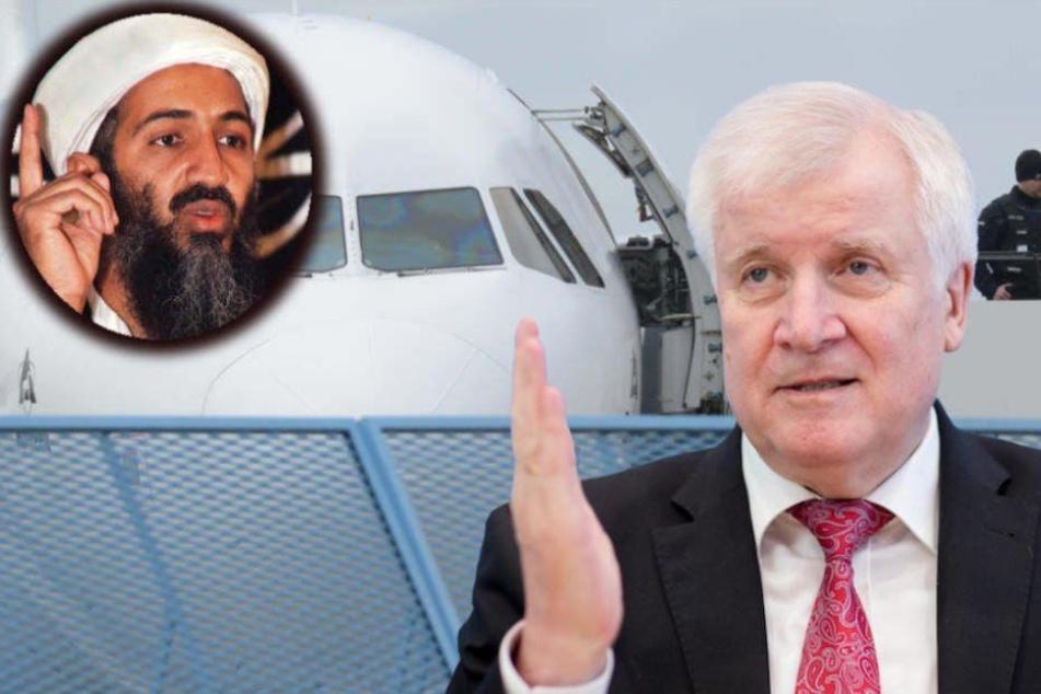 Innenminister Horst Seehofer (69, CSU) nimmt das Land NRW für die Abschiebung von Osama bin Ladens († 54) früheren Leibwächter in Schutz. (Bildmontage)