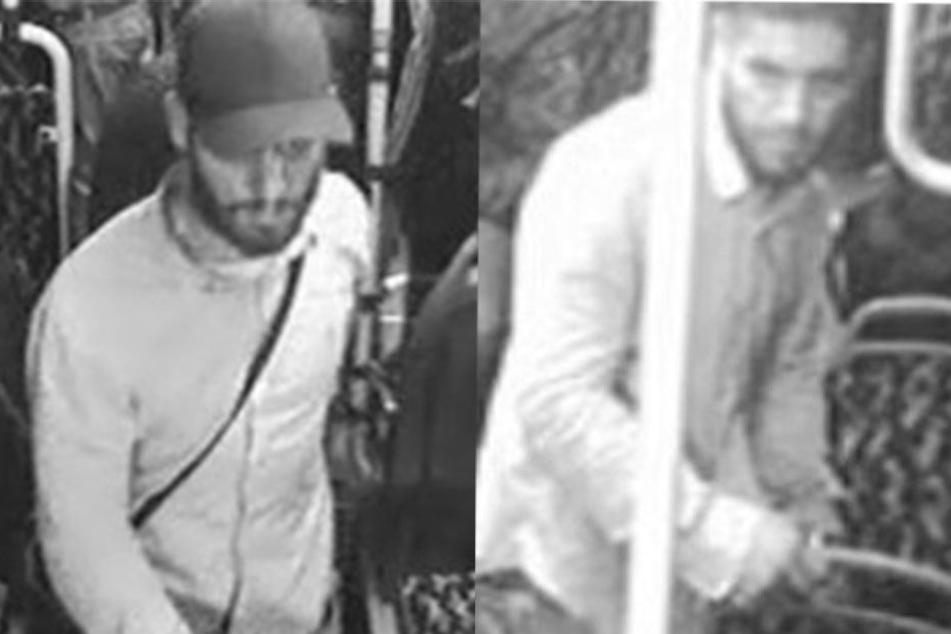 Die Polizei sucht mit diesen Bildern nach dem Verdächtigen.