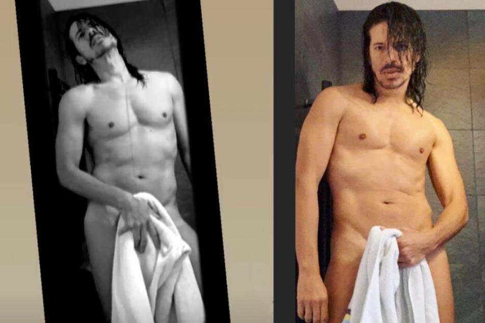 """Jorge versucht sich an seiner eigenen """"Towel Series""""."""