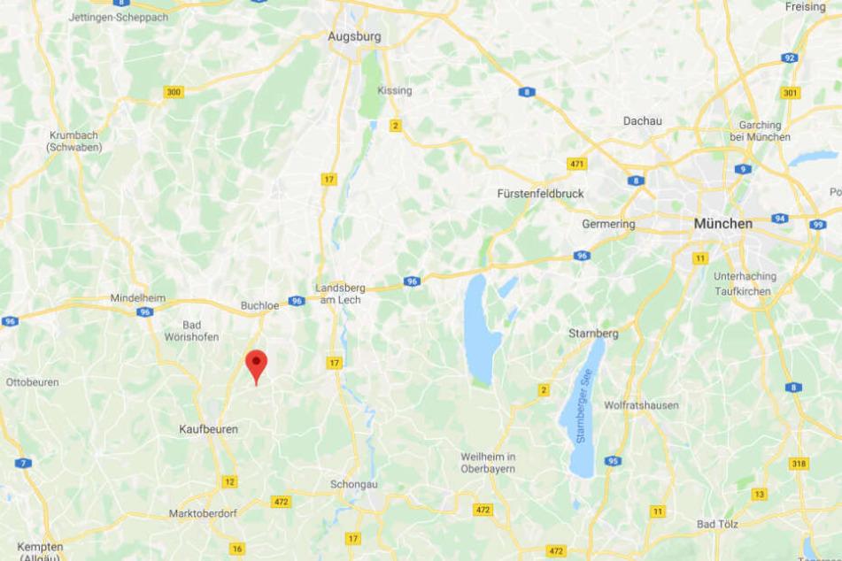 In Westendorf im Landkreis Ostallgäu musste die Polizei einen randalierenden Mann stoppen.