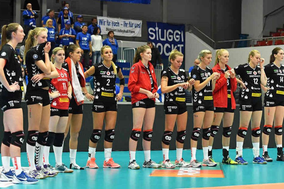Bei den DSC-Mädels gab's nach der Pleite gegen Stuttgart natürlich enttäuschte Gesichter.