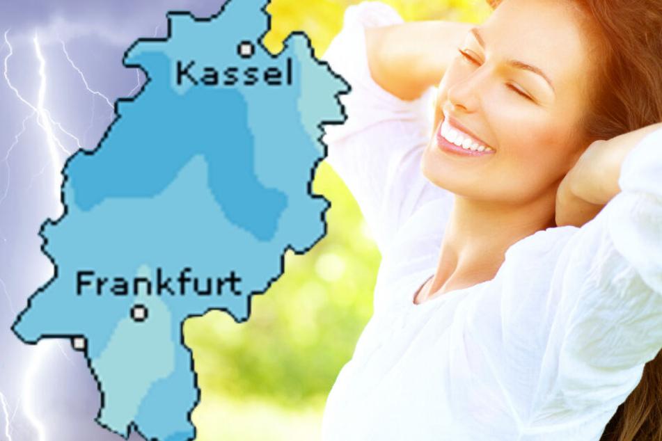 Auch der Dienst Wetteronline.de sagt für den Sonntag eine erhöhte Niederschlagswahrscheinlichkeit für Hessen voraus (Grafik).