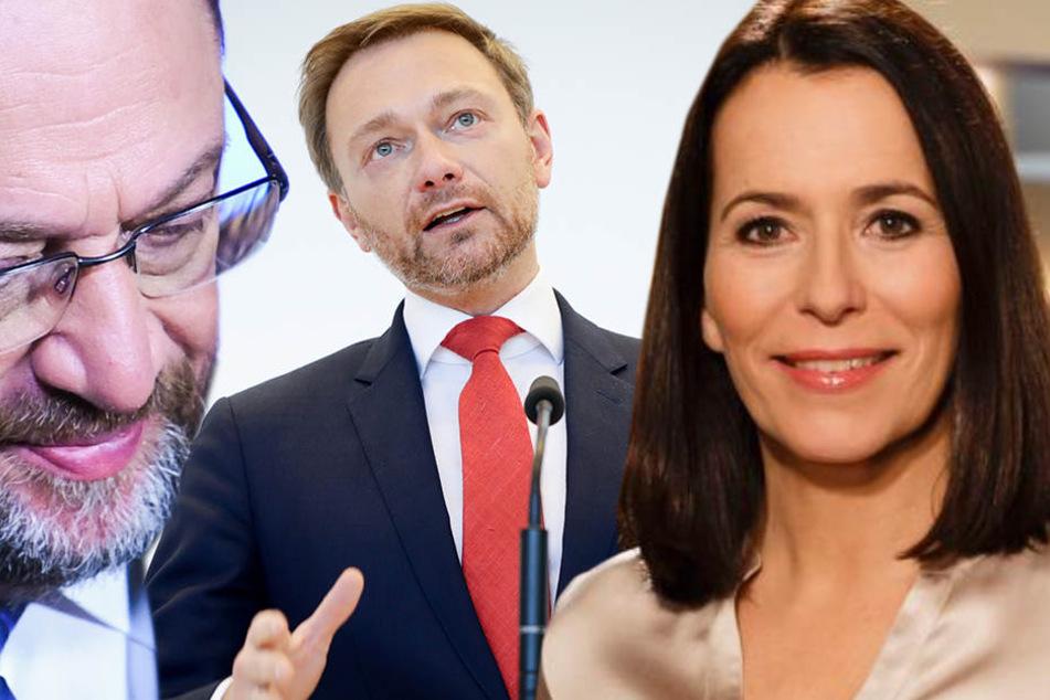 Die Politiker Martin Schulz (SPD), Christian Lindner (FDP) müssen bei Anne Will erklären, was sie von einer großen Koalition erwarten.
