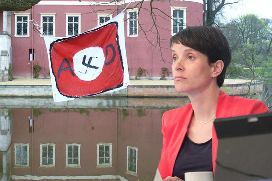 Hakenkreuz-Fahne vor Auftritt von Petry gehisst