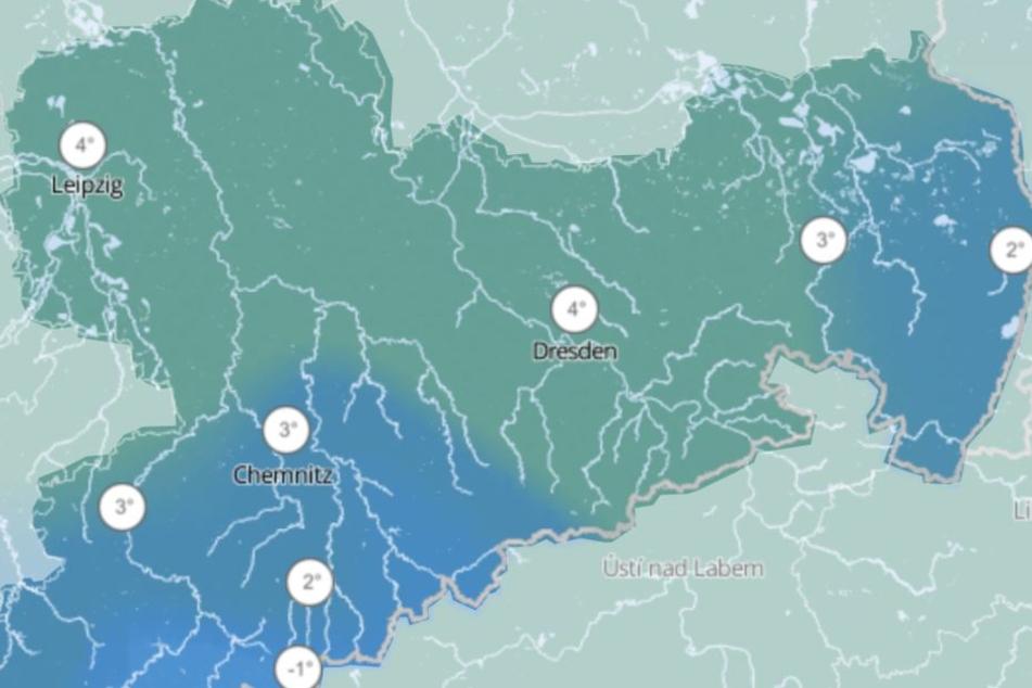 Auf bis zu 4 Grad werden die Thermometer in Sachsen in der Silvesternacht klettern.