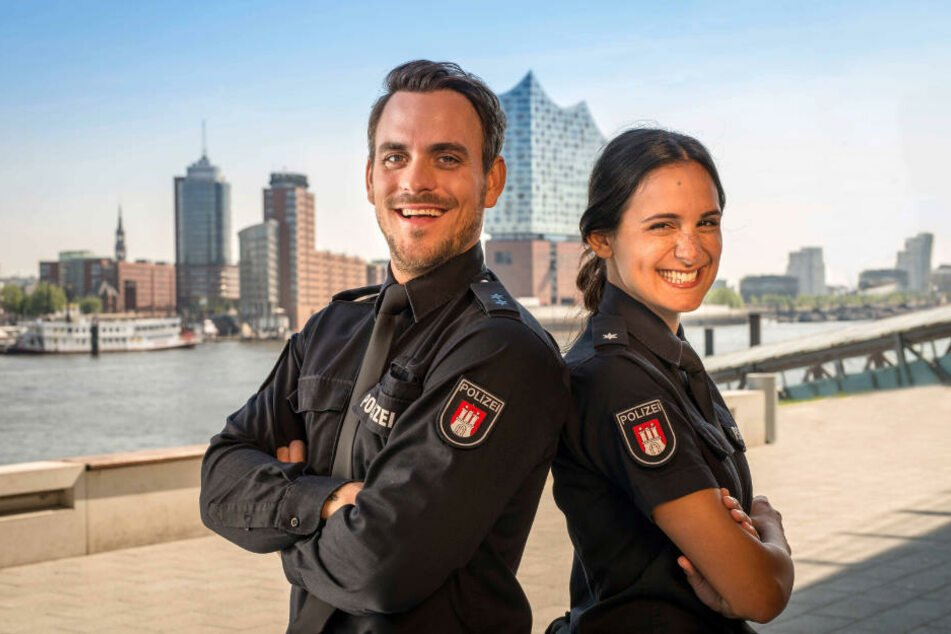 """Marc Barthel und Aybi Era spielen das neue Team in """"Notruf Hafenkante""""."""