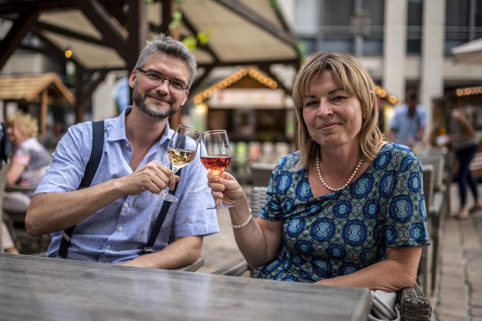 Alexander (42) und Katrin Aulhorn (51) gehörten zu den ersten Besuchern.