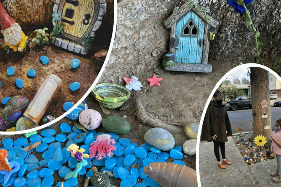 Little girl creates a fairy garden and then something magical happens