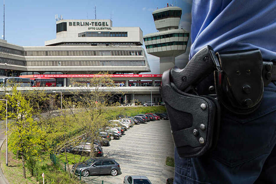 Großer Schreck am Terminal A. (Bildmontage)