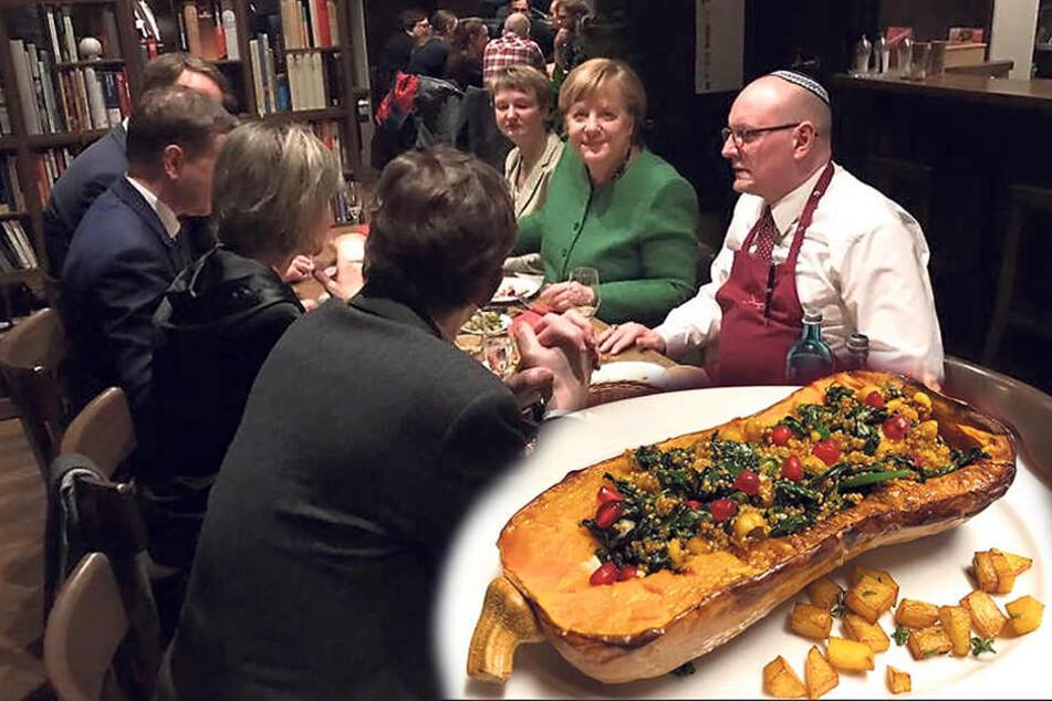 Angela Merkels Blitzbesuch in Chemnitz: Das stand alles auf dem Speiseplan der Kanzlerin