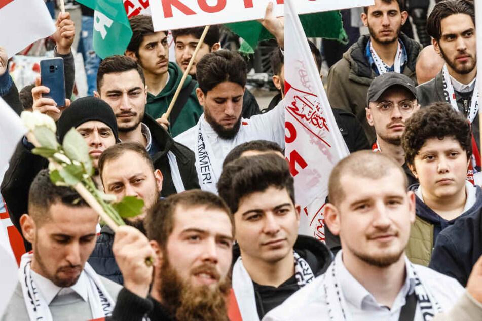 Bereits im vergangenen Jahr gingen Anhänger der Furkan-Gemeinschaft in Hamburg auf die Straße.