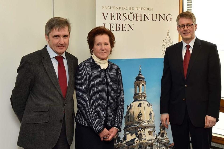 Frank Richter (l.), Christine von Kageneck und Sebastian Feydt.