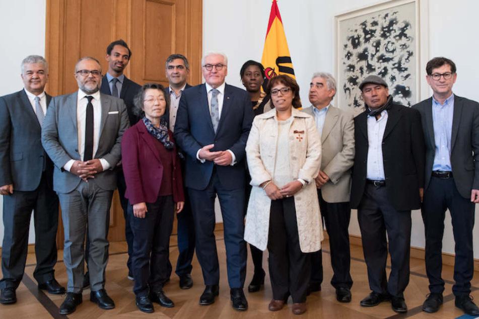 Die Migrantenorganisationen stehen auch im Kontakt mit Bundespräsident Frank-Walter Steinmeier (62), wie hier am 8. Oktober in Berlin. (Archivbild)