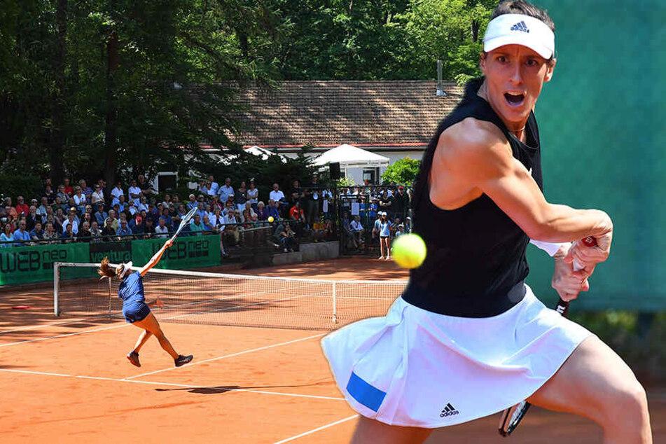 Tennis-Star macht 1200 Fans froh: Andrea Petkovic siegt im Dresdner Waldpark!
