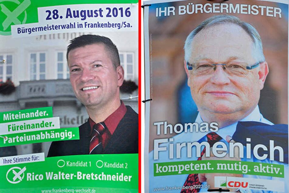 Rico Walter-Bretschneider (39, parteilos) befürchtet, dass Frankenberg sich noch mehr verschulden wird.Thomas Firmenich (60, CDU) ist seit 2002 der amtierende Bürgermeister Frankenbergs.