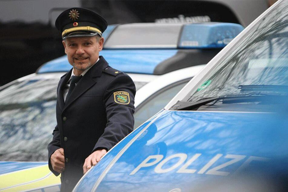 Polizeirat Candy Sommer (40) freut sich auf seine neue Aufgabe als Revierleiter in Pirna.