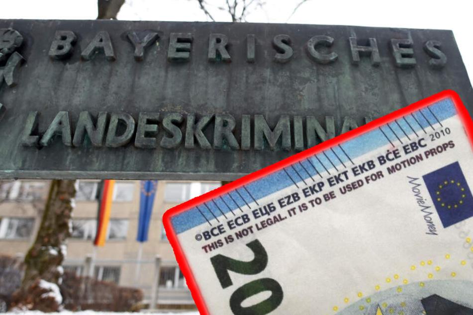 """Das Bayerisches Landeskriminalamts (LKA) warnt vor sogenanntem """"Movie Money"""". (Bildmontage)"""