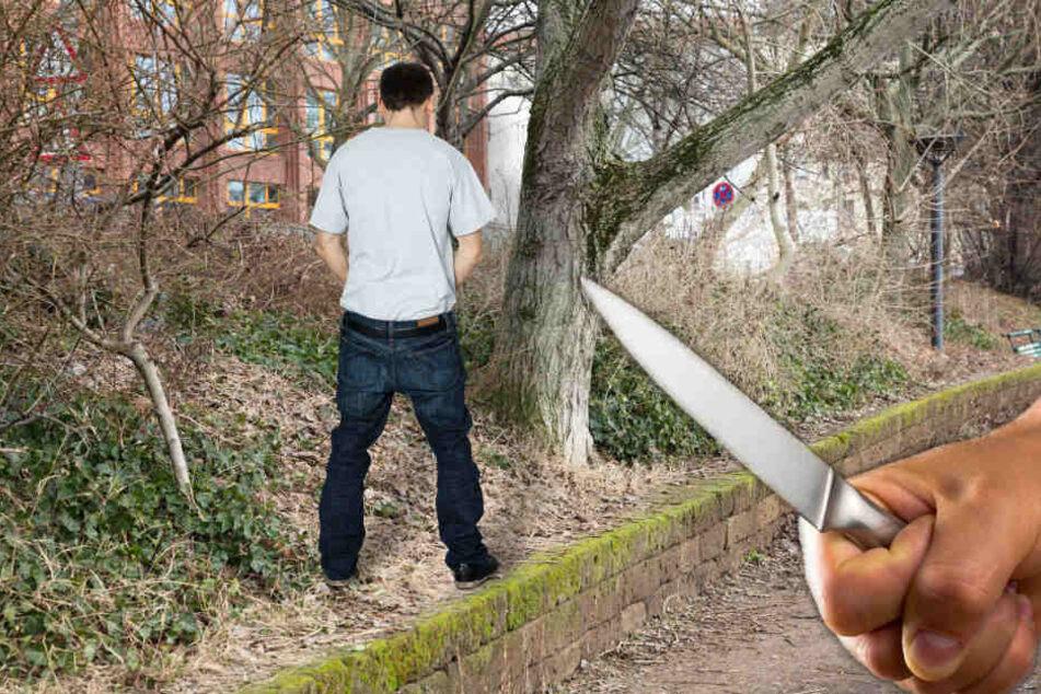 Er hatte am Rand des Schlossparks uriniert, dann gingen die Gruppe Jugendlicher auf ihn los. (Symbolbild/Fotomontage)