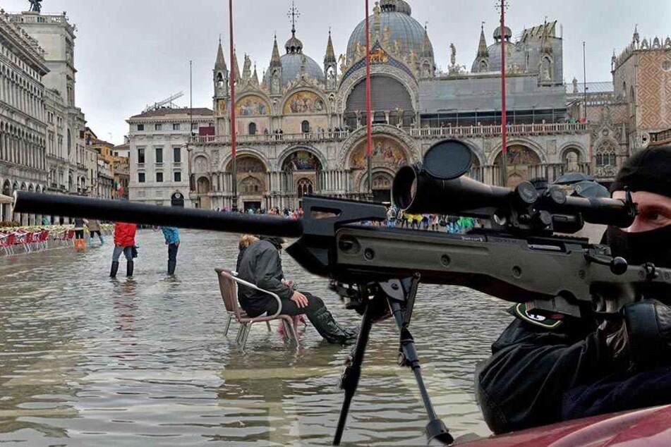 """Wer auf dem Markusplatz in Venedig """"Allahu Akbar"""" ruft, soll in Zukunft von Scharfschützen sofort getötet werden."""