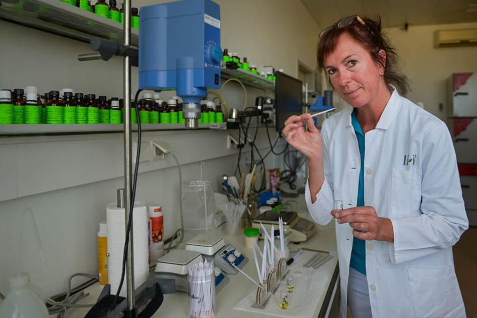 Sie hat den richtigen Riecher: Produktentwicklerin Ingerose Schrick (51) bei ihrer Arbeit im Labor.