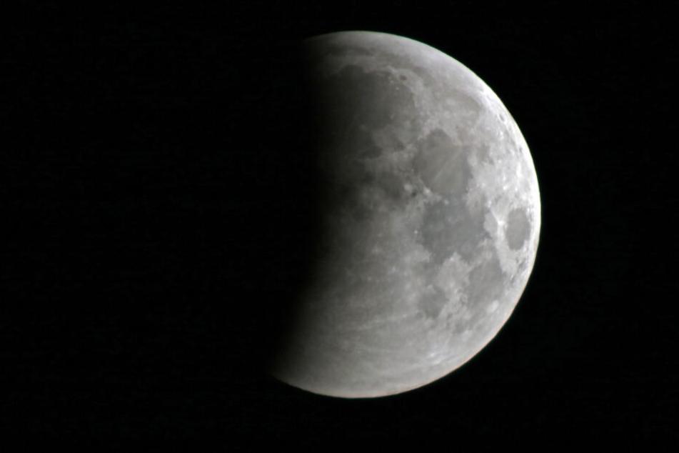 Auch in Meerane konnte man die Mondfinsternis bei klarer Sicht genießen.