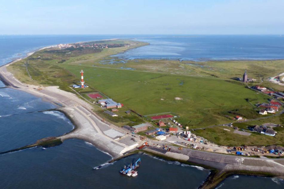 Die Nordsee-Insel Wangerooge von oben