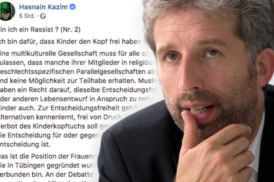 """Bin ich ein Rassist?"": Palmer kritisiert Kopftücher an Kindern"