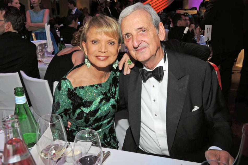 Uschi Glas mit ihrem Mann Dieter Hermann in München.