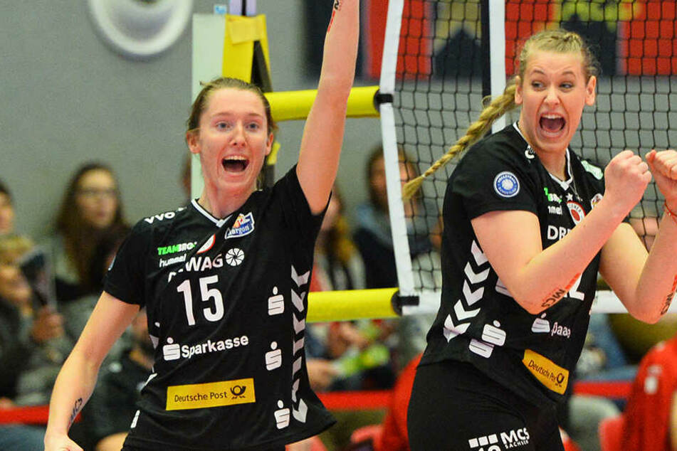 Kadie Rolfzen (links) war Top-Scorerin der Schmetterlinge.