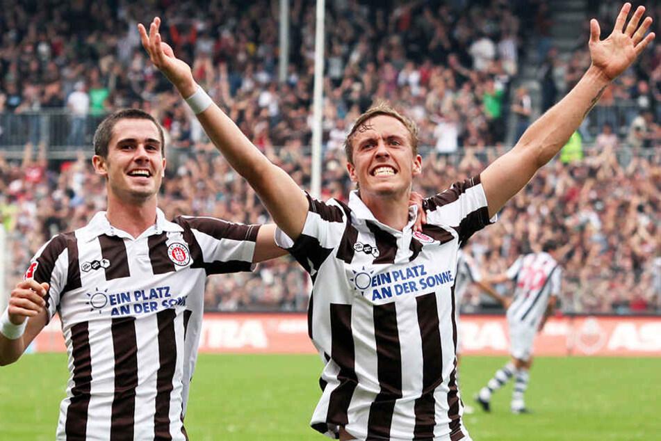 Der Wechsel zum FC St. Pauli brachte Max Kruses (r.) Karriere im Sommer 2009 erst so richtig ins Rollen.