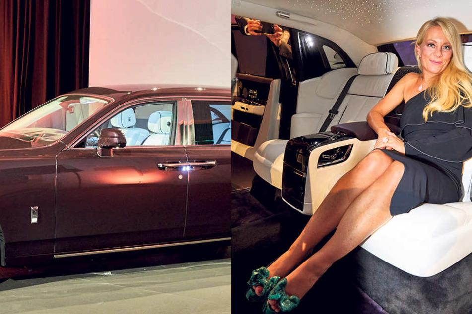 "Sybille Thomas-Göbelbecker, Chefin der ""Thomas Exclusive Cars"", nimmt im  Rolls-Royce Phantom VIII Platz."