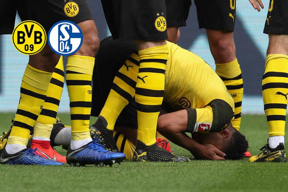 BVB gegen Schalke: Dortmunds Sancho beim Jubel von Feuerzeug getroffen