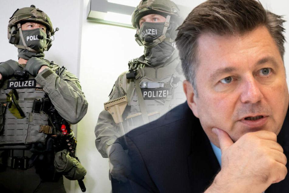 Andreas Geisel hat nach der Festnahme des Terrorverdächtigen weitere Details bekannt gegeben.