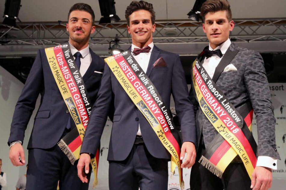 Die drei schönsten Männer des Abends.