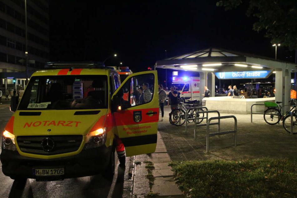 Gegen 20.35 Uhr wurden Rettungskräfte zum U-Bahnhof Osloer Straße alarmiert.