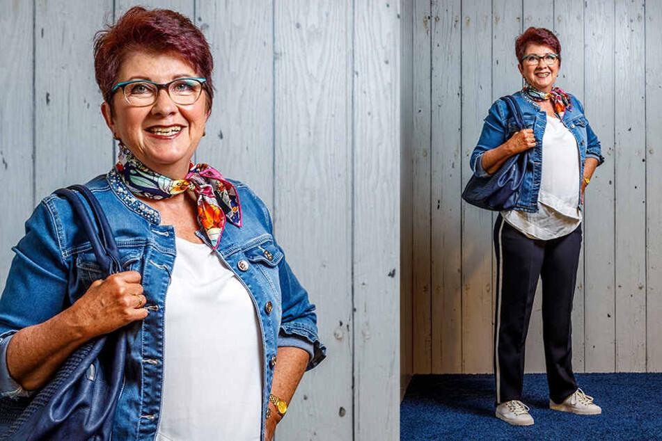 """Wow: Mit dem neuen Outfit und der Friseur vom Salon """"Schnitt-Galerie"""" sieht Elke Siebert gleich viel jünger und unternehmungslustig aus."""