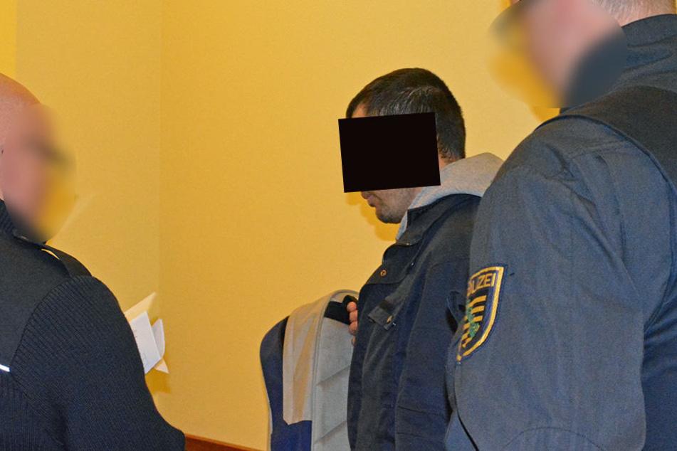 Der 28-Jährige am Mittwoch im Gericht.