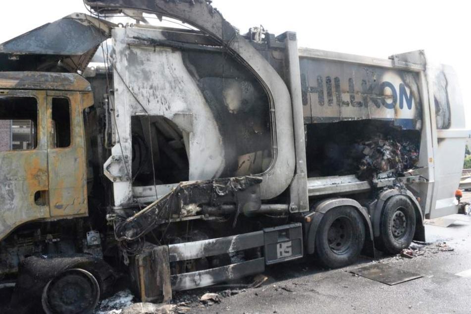An diesem Tag muss der OWD nach Müllwagen-Brand gesperrt werden
