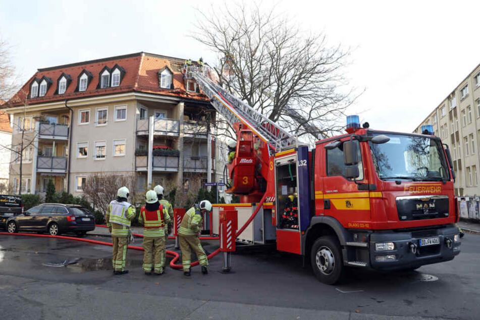 In der Zinnwalder Straße brannte es.