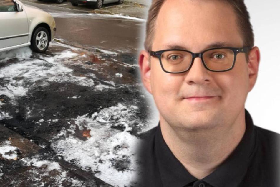 Auch andere Fahrzeuge wurden bei dem Anschlag auf Pellmanns Auto beschädigt.