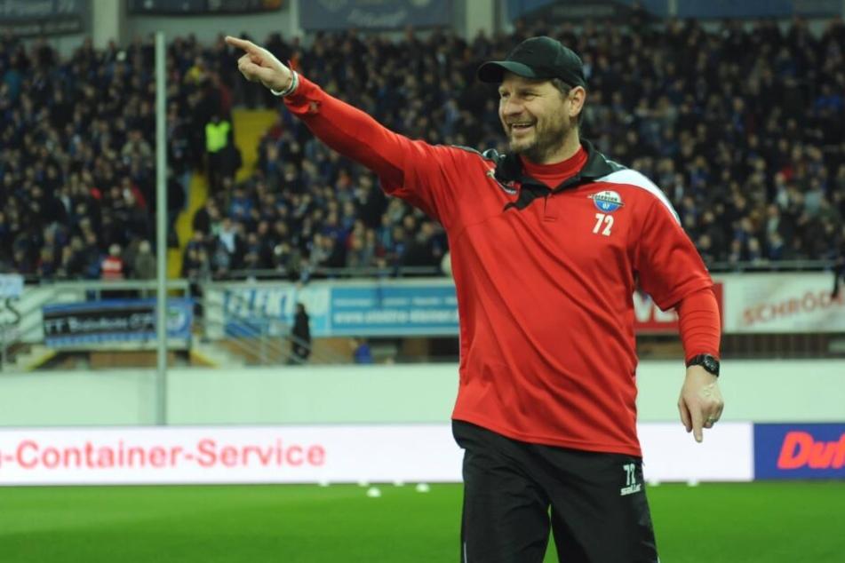 SCP-Coach Steffen Baumgart fand trotz Unentschieden lobende Worte für seine Mannschaft.