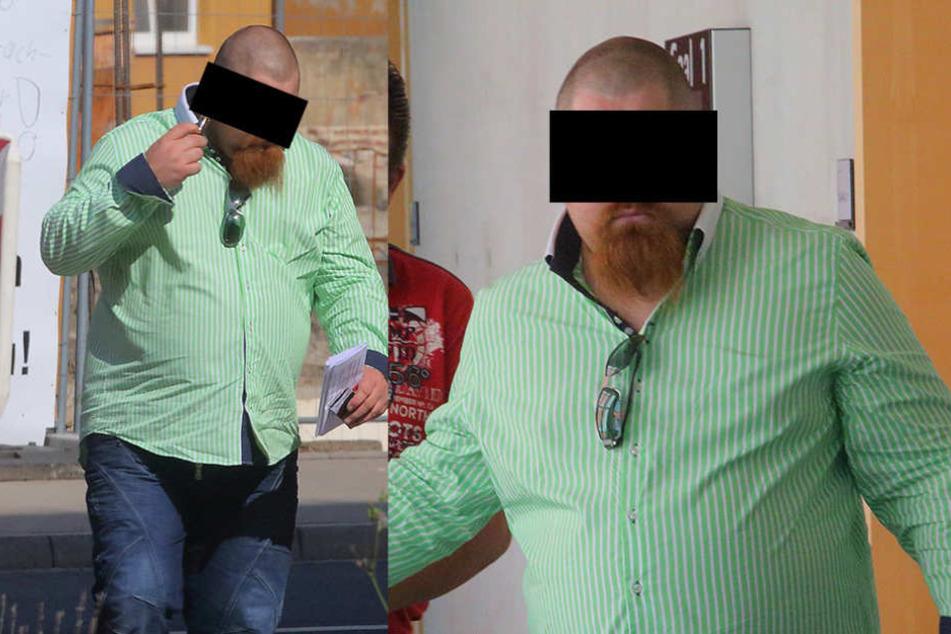 Der arbeitslose Enrico K. (29) sieht sich als Beschützer der Frauen in Moritzburg.