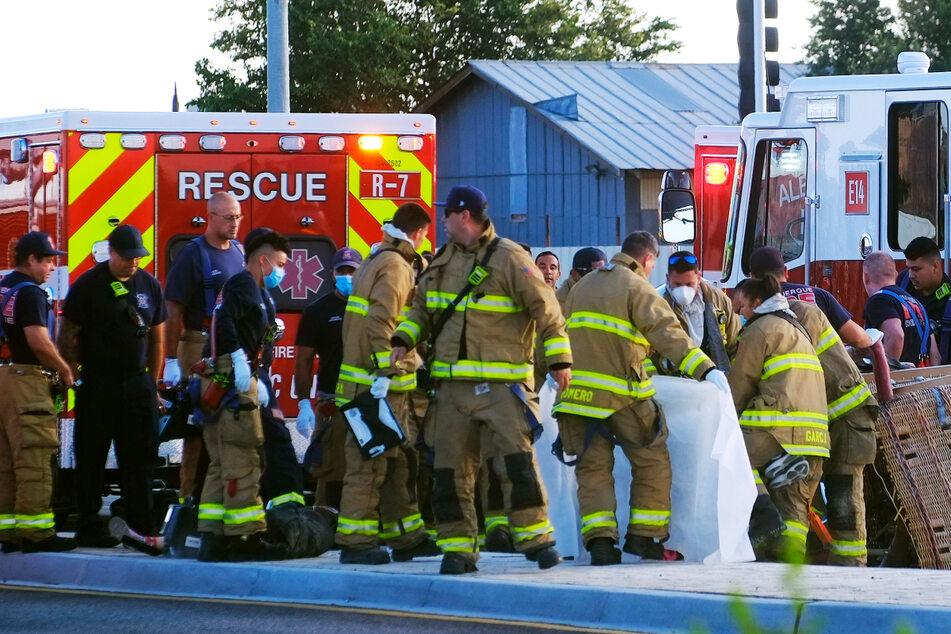 Vier Menschen kamen bei dem Unfall ums Leben, als der Ballon eine Stromleitung rammte.