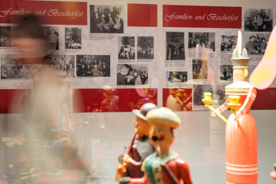 In der Ausstellung dreht sich alles um Weihnachten.