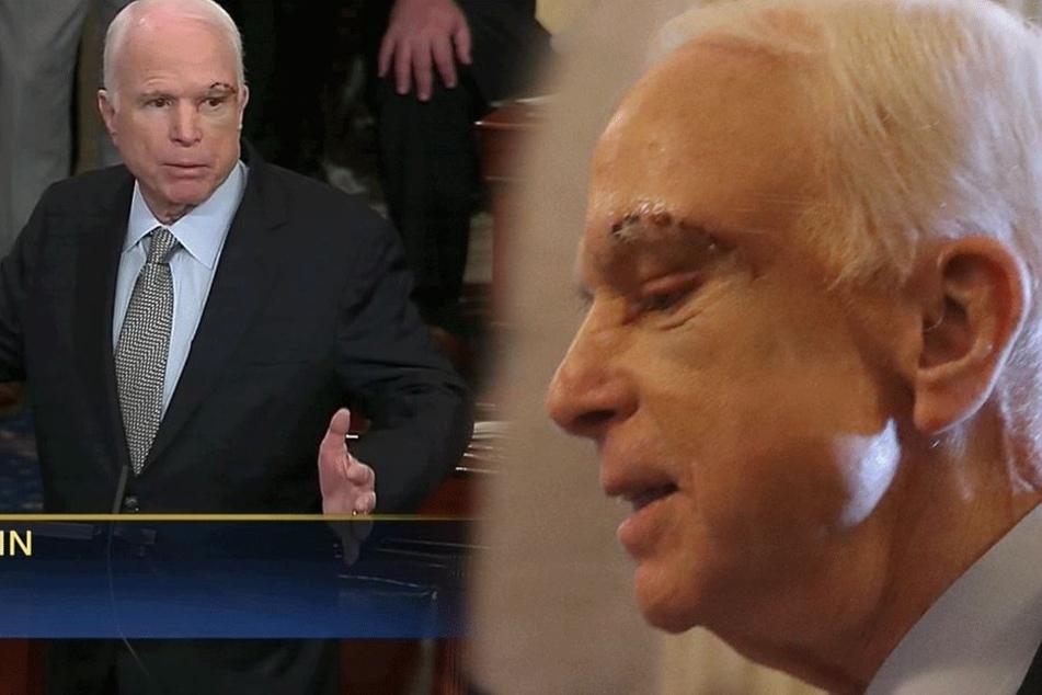 Kurz nach Hirn-OP: Mit riesiger Narbe hält McCain Brandrede im Kongress