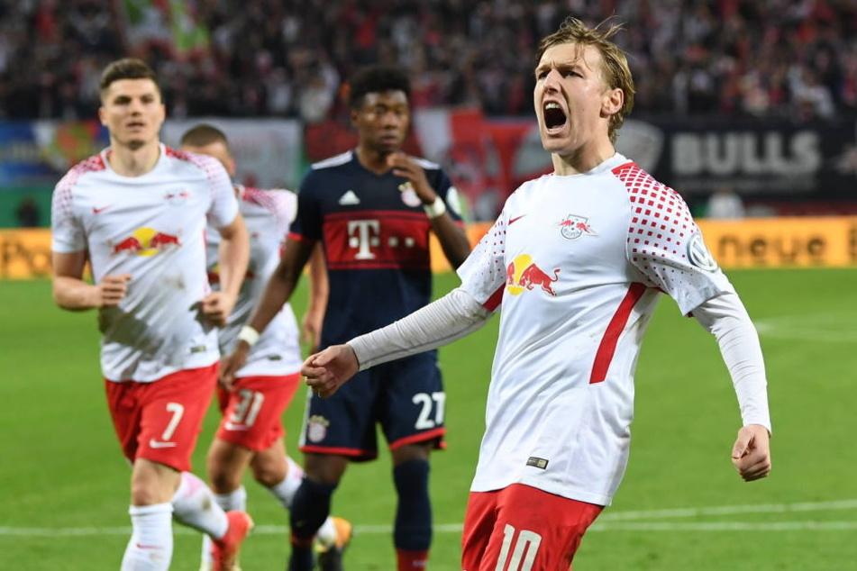 Emil Forsberg ist einer der Stars bei RB Leipzig. Sein Berater will ihm nach dem geplatzten Wechsel nach Mailand nun nach Manchester lotsen.